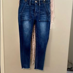 American Eagle hi rise jegging stretch crop 6short